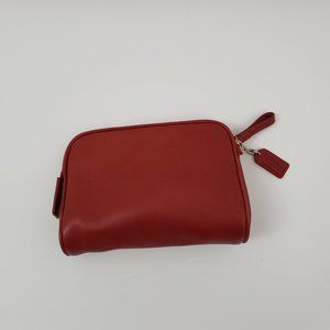 Coach Red Leather Makeup Case